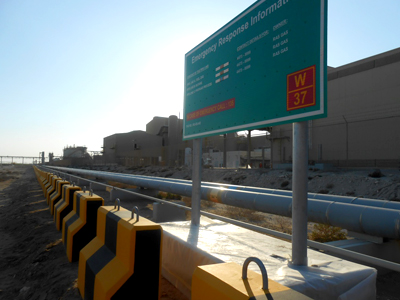 barriers signage