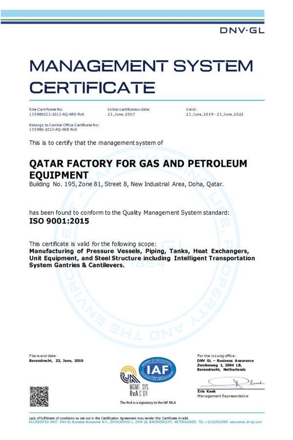 ISO 9001-2015 FABSHOP